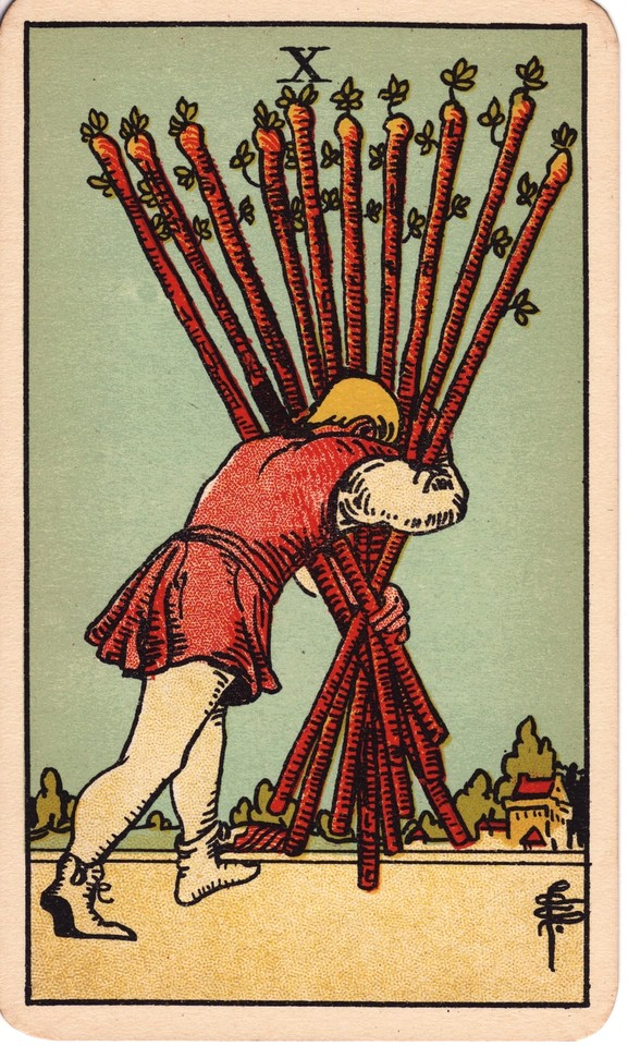 Tarot Ten of Wands card meaning
