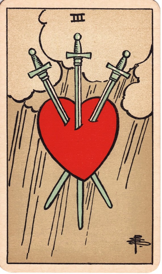 Tarot Three of Swords card meaning