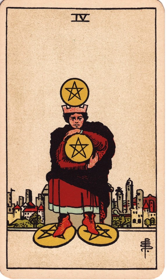 Tarot Four of Pentacles card meaning