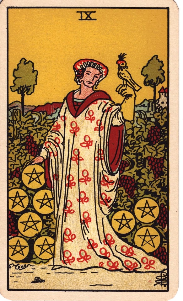 Tarot Nine of Pentacles card meaning