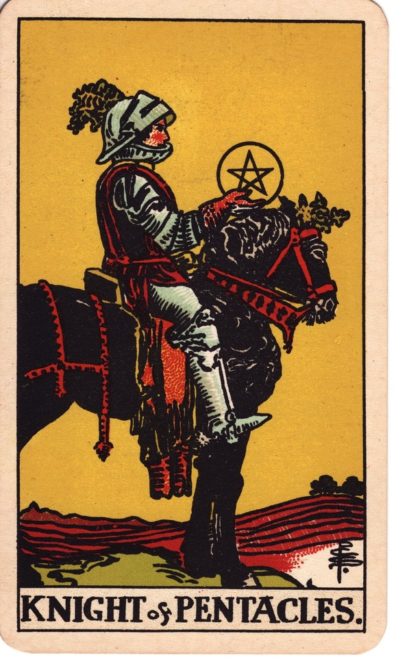 Tarot Knight of Pentacles card meaning